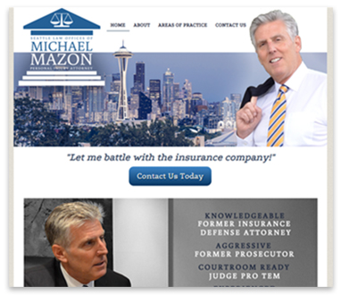 Seattle Law Offices of Michael Mazon website
